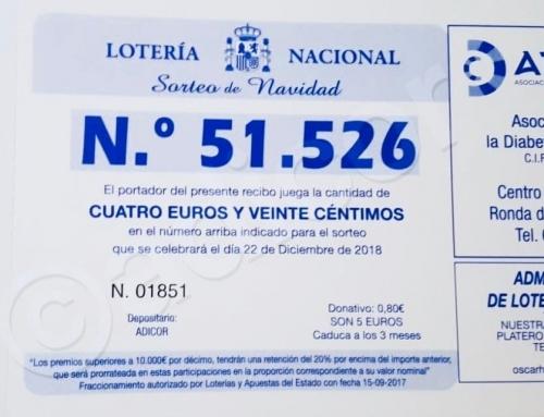 YA ESTÁ DISPONIBLE NUESTRA LOTERÍA DE NAVIDAD 2018