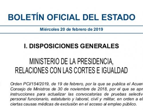 LA DIABETES DEJA DE SER CAUSA DE EXCLUSIÓN MÉDICA PARA EL ACCESO AL EMPLEO PÚBLICO EN ESPAÑA.