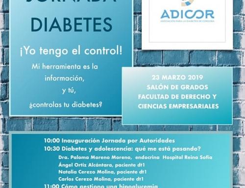 ¡¡¡YO TENGO EL CONTROL!!! – III JORNADAS SOBRE DIABETES ADICOR.
