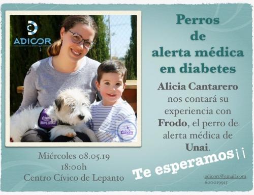 CHARLA SOBRE PERROS DE ALERTA MÉDICA EN DIABETES