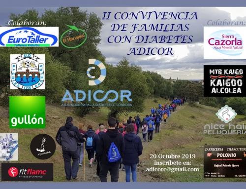 INFORMACIÓN SOBRE LA II CONVIVENCIA DE FAMILIAS CON DIABETES.